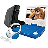 Curtis Sylvania SDVD7060-Combo-Blue 7-Inch Portable DVD Player Bundle with Matching Oversize Headphones