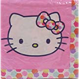 Hello Kitty Dots Bows Birthday Party Lunch Napkins - 16 per package NEW DESIGN