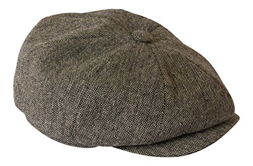 Gamble & Gunn - Béret « Shelby » léger en tweed gris anthracite - Gris - Large