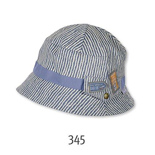 Sterntaler - Fischerhut Sonnenhut Sommermütze Jungen gemustert, grau, Größe 49