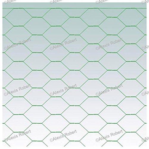 Grillage triple torsion plastifié vert (0,6 - 25 - 0,5 - 10)