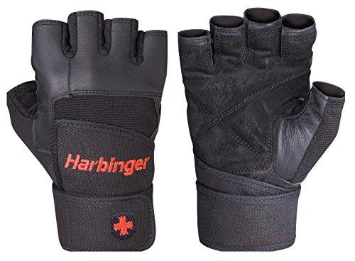 Harbinger Uni Fitnesshandschuhe Pro Wrist Wrap, schwarz, M, 19140M - 2