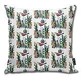 Funda de cojín cuadrada con diseño de pájaro en Sharon para el hogar, sofá, dormitorio, sala de estar, 45,7 x 45,7 cm
