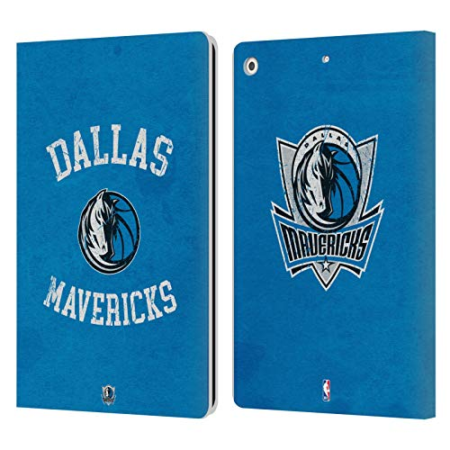 Officiële NBA Verschrikt 2019/20 Dallas Mavericks Lederen Book Portemonnee Cover Compatibel voor Apple iPad 10.2 (2019)