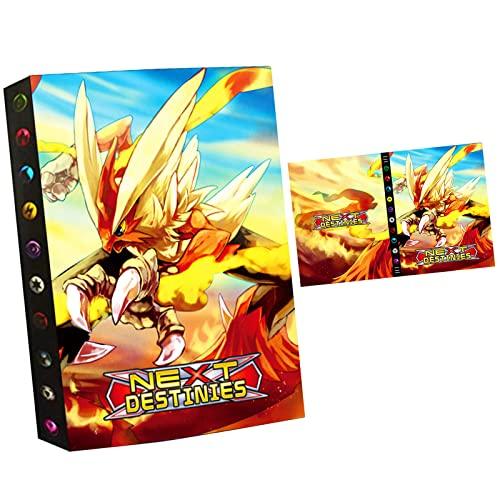 NBHHKP Álbum per cartas pokemon vmax, Álbum Titular de Tarjetas Carpeta, Tcg juguetes Carpeta Libro, Capacidad para 432 Tarjetas - DK18