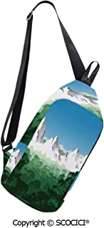 Messenger Bag Vertical Conceptual Melted Like Forms Rounded Circular De