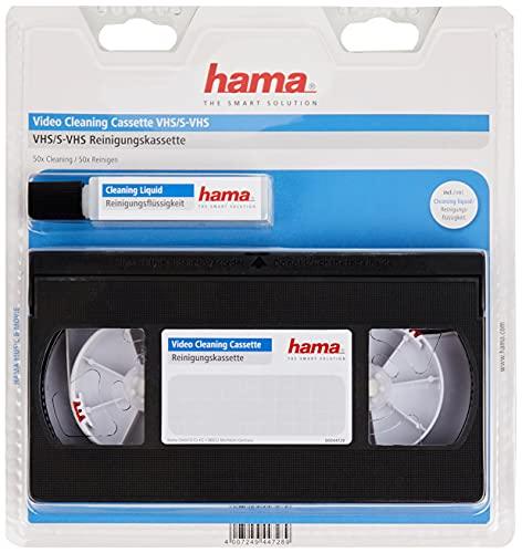 Hama Video-Reinigungskassette inkl. Reinigungsflüssigkeit für eine Feuchtreinigung (VHS / S-VHS / VHS-C / S-VHS-C)