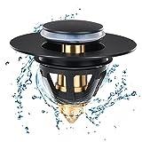 Piaozoo Tappo Lavandino Bagno,Universale Pop up Valvola di Scarico per Lavabo per Lavandino(per Il Foro di drenaggio di 34~36mm)