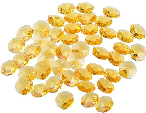 Sun Cling? Crystal 14mm Octagon Beads, Pack of 100 (Yellow)