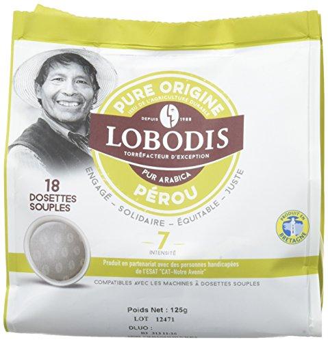 LOBODIS Dosettes Souples Pure Origine Pérou 18 x 125 g...