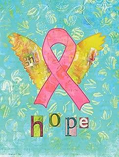 Caroline's Treasures SB3095GF Hope Angel Breast Cancer Pink Ribbon Flag, Small, Multicolor
