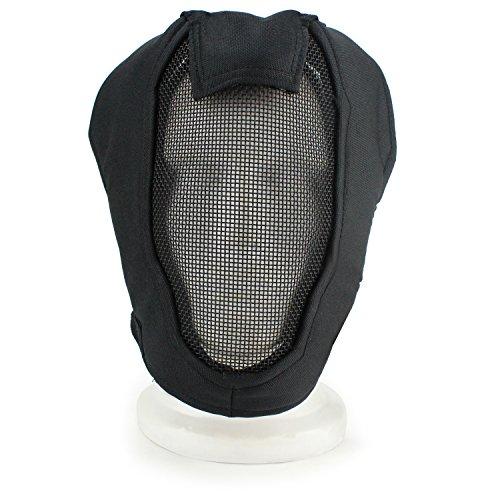 XUE Airsoft Maske Full Face Mesh Gesichtsmaske Taktische Paintball Schutz Masken für Fechten Jagd Halloween (Schwarz)