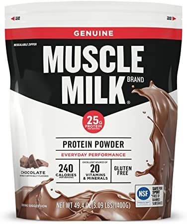 Muscle Milk Genuine Protein Powder Chocolate 25g Protein 3 09 Pound product image