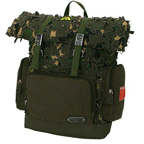 F23, Erweiterbarer Rucksack, HxLxB: 40x16x30 cm, ca. 20 Liter, Parapatch, Braun/Camo, 30011-3