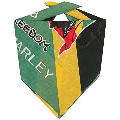 Lipodo Jamaica Bandana Halstuch Kopftuch Stirnband Schal Gesichtsschutz für Damen Herren Kinder Winter Sommer (One Size - grün)