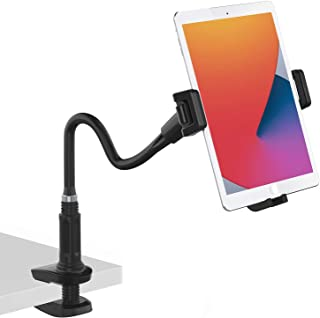 """Tablet & Cell Phone Gooseneck Mount Holder for Desk, Flexible arm Clamp Mount Compatible with 4.7-12.9"""" Tablets, iPad Air ..."""