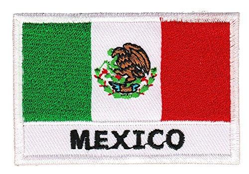 Bestellmich Flagge Mexico Aufnäher Bügelbild Patch Applikation