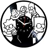 EVEVO The Simpsons Wanduhr Vinyl Schallplatte Retr
