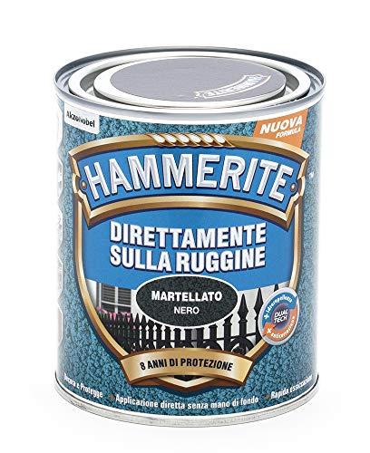 Hammerite Direttamente Sulla Ruggine Martellato Nero 0.75 L