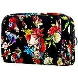 Bolsa de maquillaje personalizada para brochas de maquillaje, bolsas de aseo portátiles para mujeres, bolso cosmético, organizador de viaje, flores, rosas