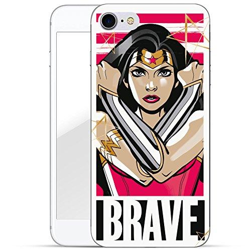Finoo Iphone 7 Hard Case Handy-Hülle Wonderwoman Motiv | dünne stoßfeste Schutz-Cover Tasche mit lizensiertem Muster | Premium Case für Dein Smartphone| Brave