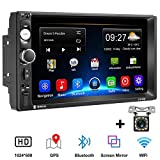 Car Stereo Camecho Android 8.1 Double Din Car Radio 2G/32G with 7'' HD