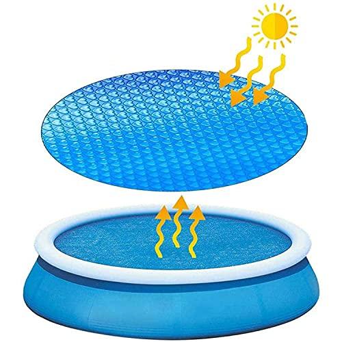 ZDYLM-Y Cubierta de Piscina Solar, Cubierta de Manta de Piscina Inflable de película de Aislamiento térmico, Cubierta de Piscina Redonda Azul, para Piscinas sobre el Suelo,3.6M