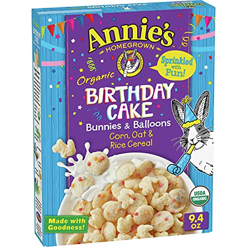 Annie's Birthday Cake Bunnies and Balloons Cereal, 9.4 oz
