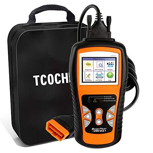 TCOCHE 4.7 'LCD OBD2 Escáner, OBDII Professional Car Auto Diagnostic Lector de Código de Coche&Coche Motor de vehículo O2 Sensor Systems Scanner para Todos los OBD 2 Protocol Cars Desde 1996
