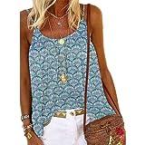 Fainash Camiseta de Mujer Camisola Suelta con Estampado de Tendencia al Aire Libre Fiesta de Vacaciones Streetwear Tallas Grandes Casual Tops Sueltos 3XL