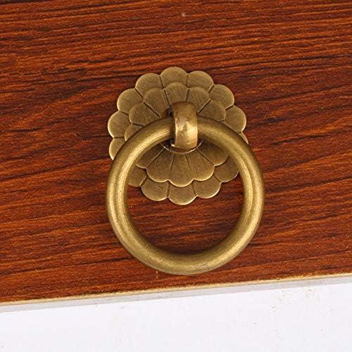 20pcs Popular standard Max 89% OFF lot Brass Cabinet Drop Ring Door Furniture Handle Cupboard
