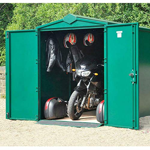 Asgard 10x5 Centurion Secure Motorcycle Storage Shed Green