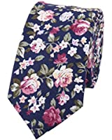 FEOYA Men's Cotton Ties Printed Floral Skinny Neckties