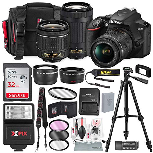 Nikon D3500 DSLR Camera with 18-55mm and 70-300mm Lenses + 32GB Card,...