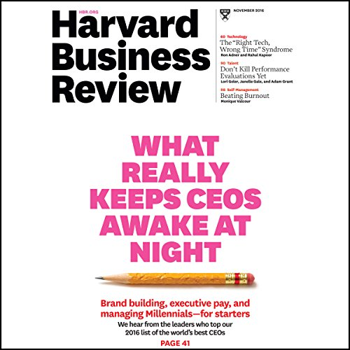 Harvard Business Review, November 2016 copertina