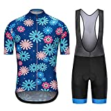 Conjunto De Jersey De Ciclismo De Secado Rápido para Hombres Camisa De Bicicleta De Carretera + Pantalón Babero Kit De Ropa De Equitación MTB