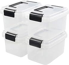 Nicesh 2 L Clear Plastic Storage Box, 4-Pack