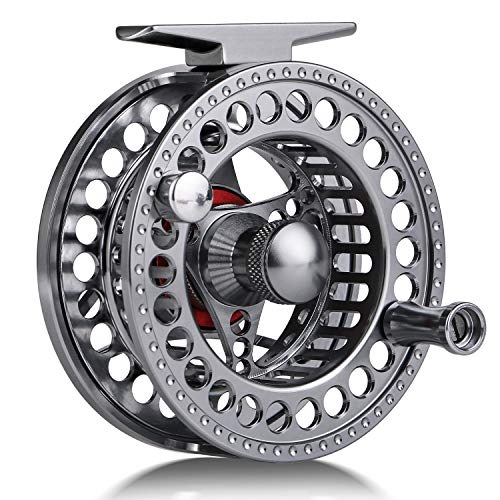 Sougayilang Fly Fishing Reel with CNC-machined Aluminum Alloy Body 5/6, 7/8 Lightweight Fly Reel-5/6