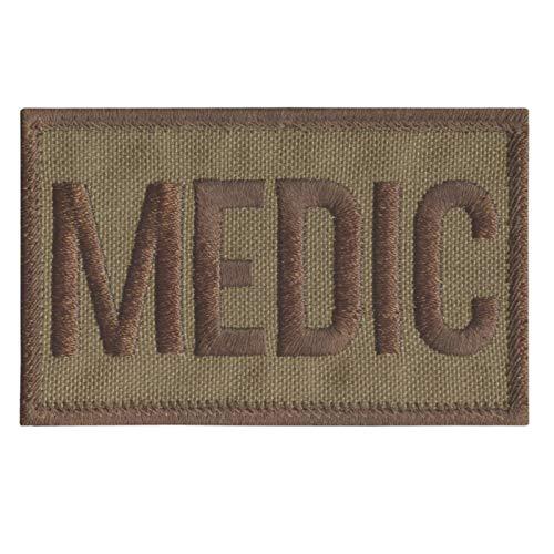 2AFTER1 Tan Medic EMS Paramedic Coyote Combat Med EMT Medical Tactical Morale Hook-and-Loop Patch