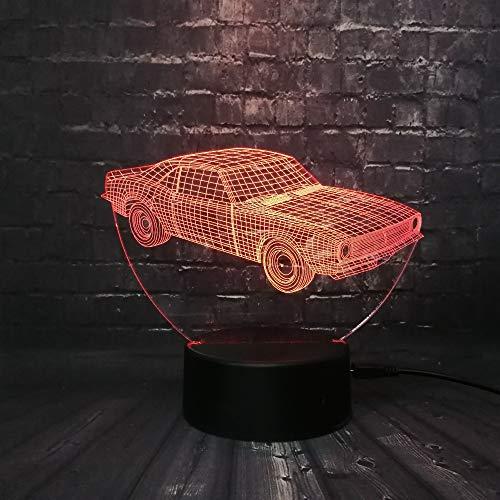 DFDLNL Cool Car 3D USB LED Lampe De Voiture Styling Coloré Cool Boy Cadeau Jouets RVB Nuit Lumière Table Décoration