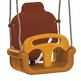WICKEY Babyschaukel verstellbar Sicherheits Kleinkindschaukel 3 in 1 mit Kipp-Schutz-Vorrichtung und 3-Punkt-Gurt