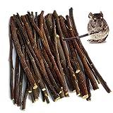 Apple Sticks 200g, Small Animals Molar Wood Chew Toys for Rabbits Chinchilla Guinea Pigs Cavia Cobaya Parrot Hamster Apple Chew Sticks Toys Treats
