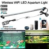 Iluminaci/ón LED para acuario de DOCEAN 112 ledes para acuarios de agua dulce SMD 5050 longitud ajustable para tanque de peces de 50 72 cm