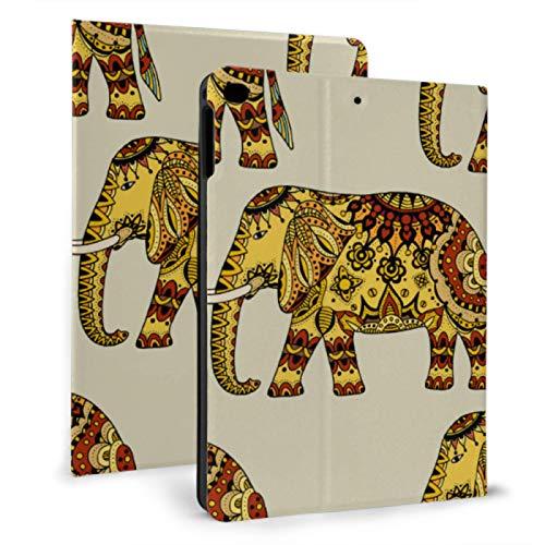 Bonita Funda para iPad con diseño de Elefante étnico y gráfico para iPad Mini 4 / Mini 5/2018 6th / 2017 5th / Air/Air 2 con Auto Wake/Sleep Fundas magnéticas para iPad para niños