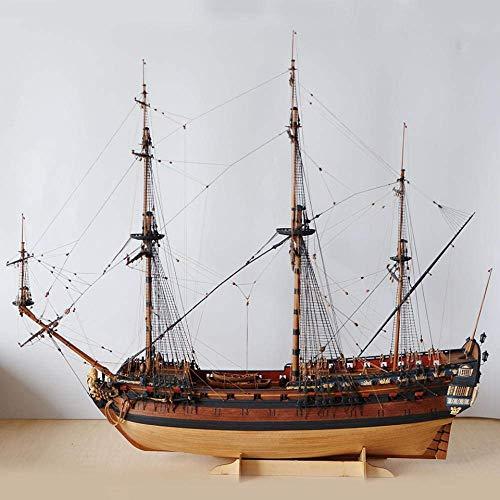 XIUYU Wohnzimmerdekorationen Wasserfahrzeug Modellbau Kits 1:96 Ingermanland 175 (Peter Flaggschiff) Holzsegelschiff Model Kit
