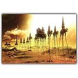 Salvador Dali Surrealismo Pintura abstracta Elefante Arte Carteles antiguos Fotos Decoración del hogar Impresión en lienzo -60x90cm Sin marco