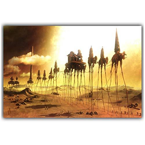 Salvador Dali Surrealismo Pintura abstracta Elefante Arte Carteles antiguos Fotos Decoracion del hogar Impresion en lienzo -60x90cm Sin marco