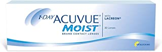 1-Day Acuvue Moist Contact Lens - 30 Pack, Clear, -12