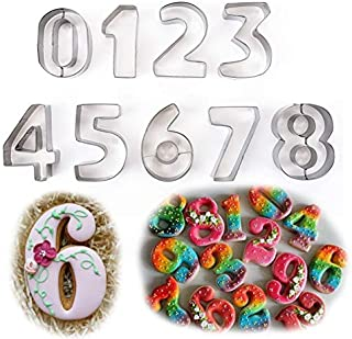 FantasyDay Gift Set Large Letter Numbers Fruit Cookie Cutters Set (0-9) - 3 Inches - Stainless Steel Pastry Cutters Kit fo...