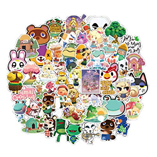 Game Animal Crossing Cartoon Animation Sticker ForComputer Motorcycle Skateboard Guitar Toy Game Machine Children Gift 50Pcs